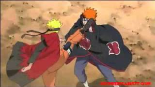 naruto vs pain (Green Day - Holiday)