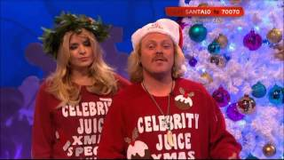 Celebrity Juice Text Santa Xmas Carols