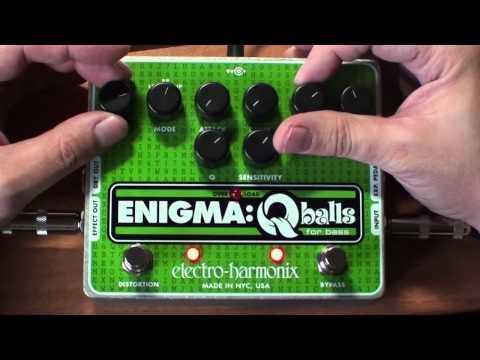 EHX Electro Harmonix Enigma Q Balls on Drums - stompbox pedal demo review