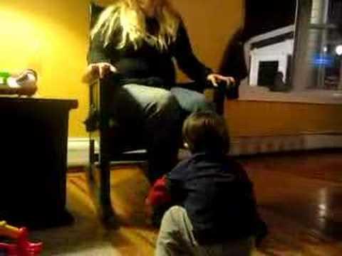Leo tickles Aunt Wuz 2/1/08