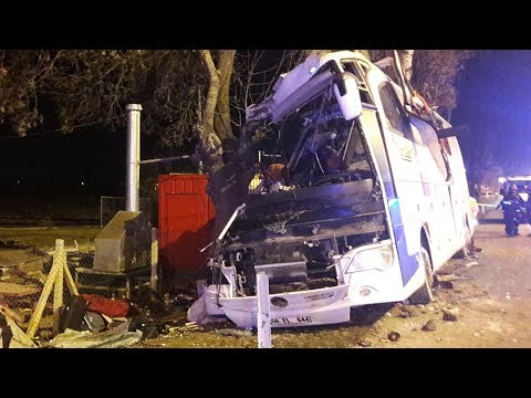 Eskişehir'de Otobüs Kaza Yaptı: 13 Ölü
