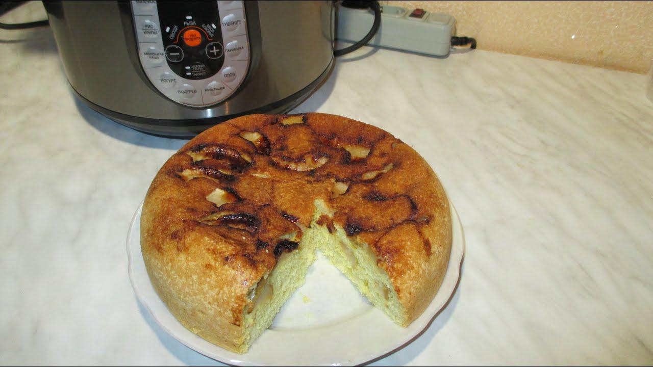 Шарлотка с яблоками мультиварка рецепт пошагово