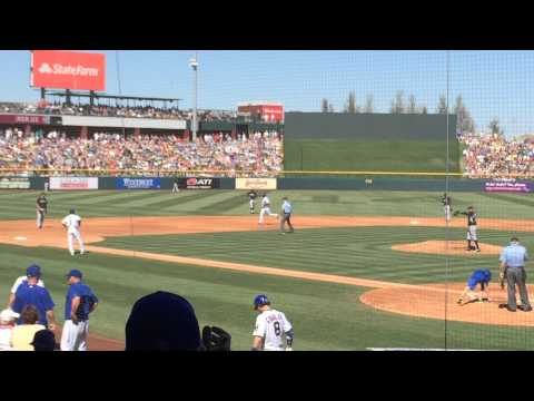 Addison Russell Hits a Homerun against Felix Hernandez - Cubs vs. Mariners - March 21, 2015