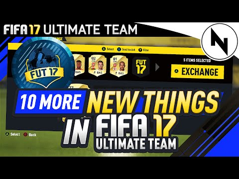 10 MORE NEW THINGS IN FIFA 17 ULTIMATE TEAM?!