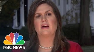 Sarah Huckabee Sanders On Senate Wins: 'It's A Huge Win For The President' | NBC News