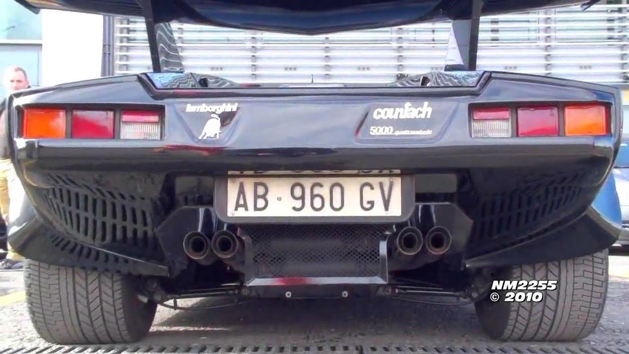 lamborghini countach 5000 sound with ansasport exhaust youtube. Black Bedroom Furniture Sets. Home Design Ideas