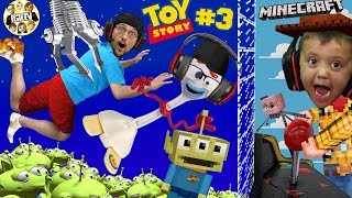Minecraft Toy Story 4: PIZZA PLANET ARCADE! Alien Claw Machine w/ Nether Forky (FGTEEV Skit)