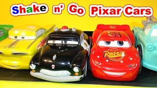 Disney Pixar Cars Shake and Go Sheriff with Mater and Lightning McQueen