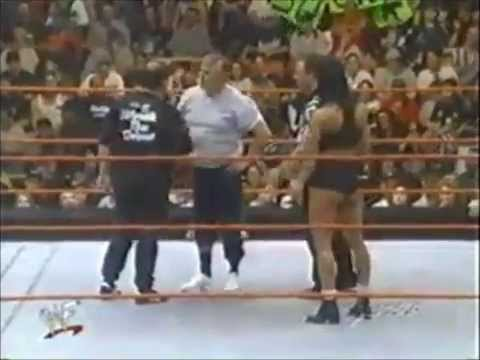 WWF Raw Chyna vs Pat Patterson and Gerald Brisco