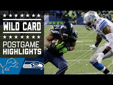 Lions Vs Seahawks Nfl Wild Card Game Highlights