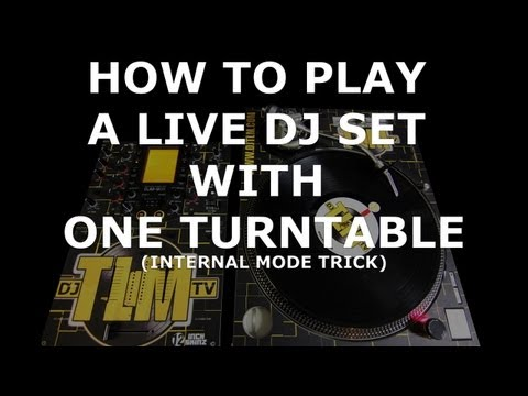 How to play a live DJ set with one turntable (Serato INT mode trick)