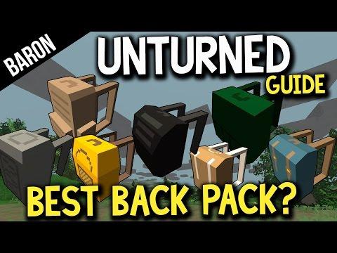 Unturned Best Backpack?  Alice Pack vs Rucksack! Gear Guide Unturned Part 1