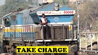 WDP4B Takes Charge Mandovi Express | Madgaon
