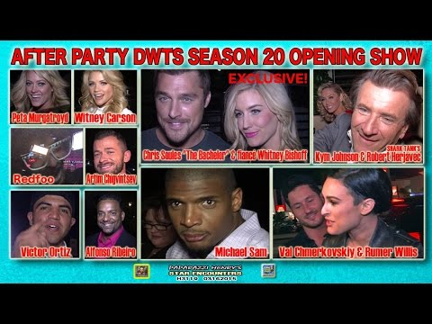 Michael Sam, Bachelor & Fiance, Rumer Willis & Val, Robert Herjavec & Kym DWTS Afterparty