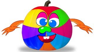 Learn Colors with Face Painting | Pumpkin Monster Face Painting | Colours for Children by Kidscamp