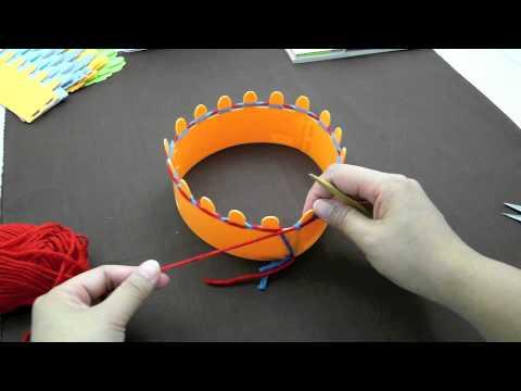 การพันฐาน Magic Knit และการถัก Knit