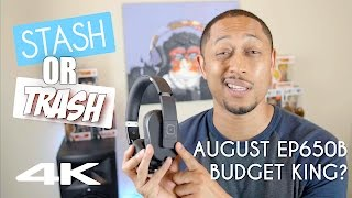 Stash or Trash | August EP650B Bluetooth Headphones Review [4K]