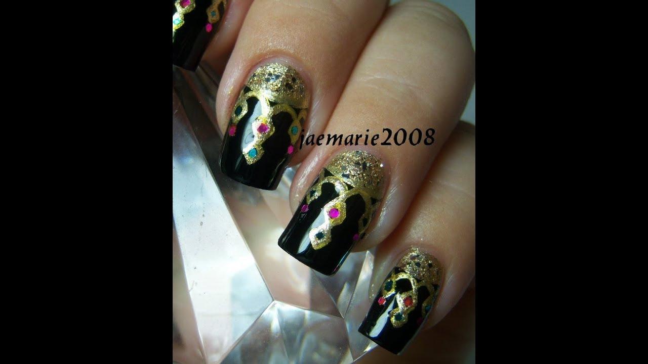 Princess Themed Nails: Princess Of 1001 Arabian Nights Inspired Nail Design