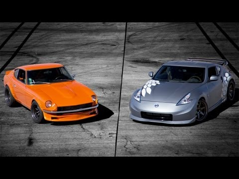 Nissan Project 370Z vs 1970 Datsun 240Z with RB26 Track Battle! - The Downshift Episode 54