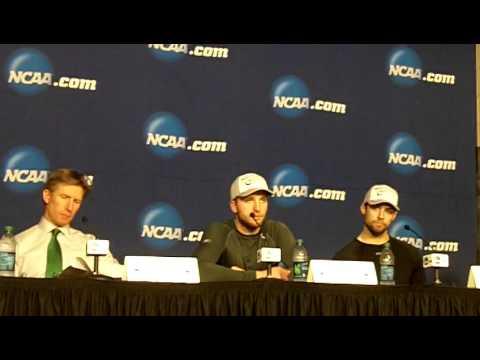 NCAA West Regional Press Conference North Dakota after winning St Cloud