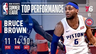 Bruce Brown Records Summer League's First Triple Double As Pistons Defeat 76ers | July 10, 2019