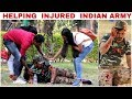 Helping Injured 𝐈𝐍𝐃𝐈𝐀𝐍 𝐀𝐑𝐌𝐘(Crpf) in India| SOCIAL EXPERIMENT |HeartTouching |FunkyTv| thumbnail