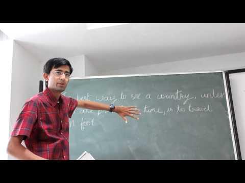 Vinod Lecturing