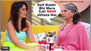 Sharmila Tagore COMPLAINING To Kareena Kapoor  About Saif Ali Khan At The  Interview  ISHQ 104.8 FM