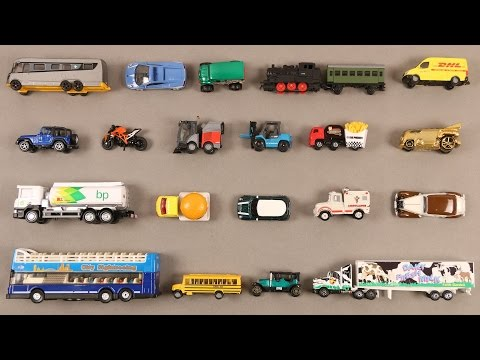 Learn City Vehicles For Kids Children Babies Toddlers With Bus Car Bike Truck School Bus Ambulance