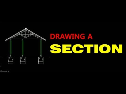 Autocad Tutorial Drawing A Section Youtube