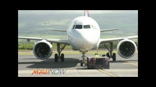 New Hawaiian Airlines Airbus A330 Economy Class Flight Trip Seattle to Maui