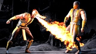 Mortal Kombat X ALL Alternate Costumes Outfits Skins for SCORPION