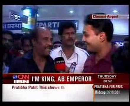 Rajnikanth: Amitabh is emperor, I'm (probably) king