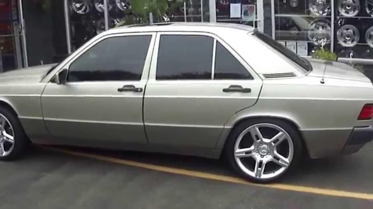 Hillyard custom rim tire 1992 mercedes benz 190e rolling for Mercedes benz 190e rims