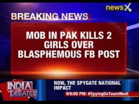Pakistan mob kills woman, girls, over 'blasphemous' Facebook post