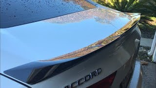 Installing A JDM Spoiler On my 2018 Accord