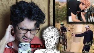 Reacciono al video viral más v0mitiv0 y n@uce@bund0 del MUNDO - retos con youtubers