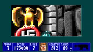 [MS-DOS] Wolfenstein 3D - Floor 7 (Episode II)