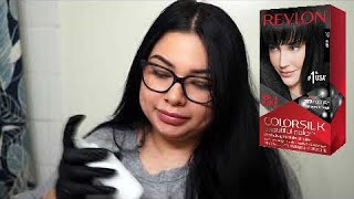 how i get my hair so black| Revlon color silk