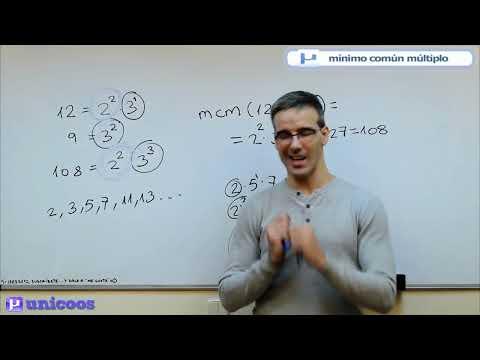 MCM Minimo comun multiplo con descomposicion factorial 1ºESO unicoos matematicas