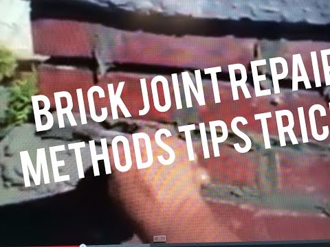 Tuck Pointing Method for Repointing Bricks Steps Chimneys Walls How To