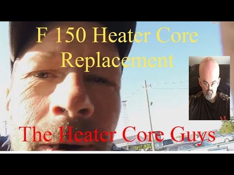 Heater Core F150 Replacement-The Best Way To Do It. Wet Carpet