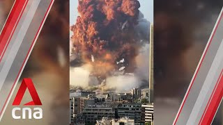 Two massive explosions rock Lebanon capital Beirut