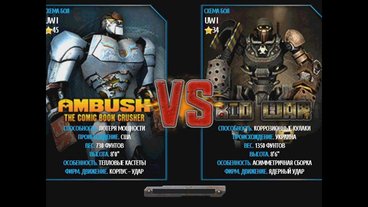 Real Steel Wrb Albino Real Steel Wrb Ambush vs Bio