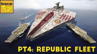 The REAL SIZE of STAR WARS SHIPS: Pt 4 Republic Fleet