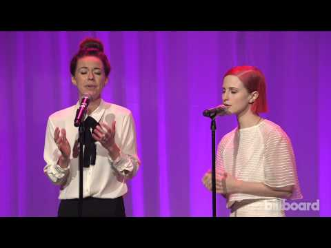 Joy Williams & Paramore Perform hate To See Your Heart Break - Billboard Women In Music 2014 video