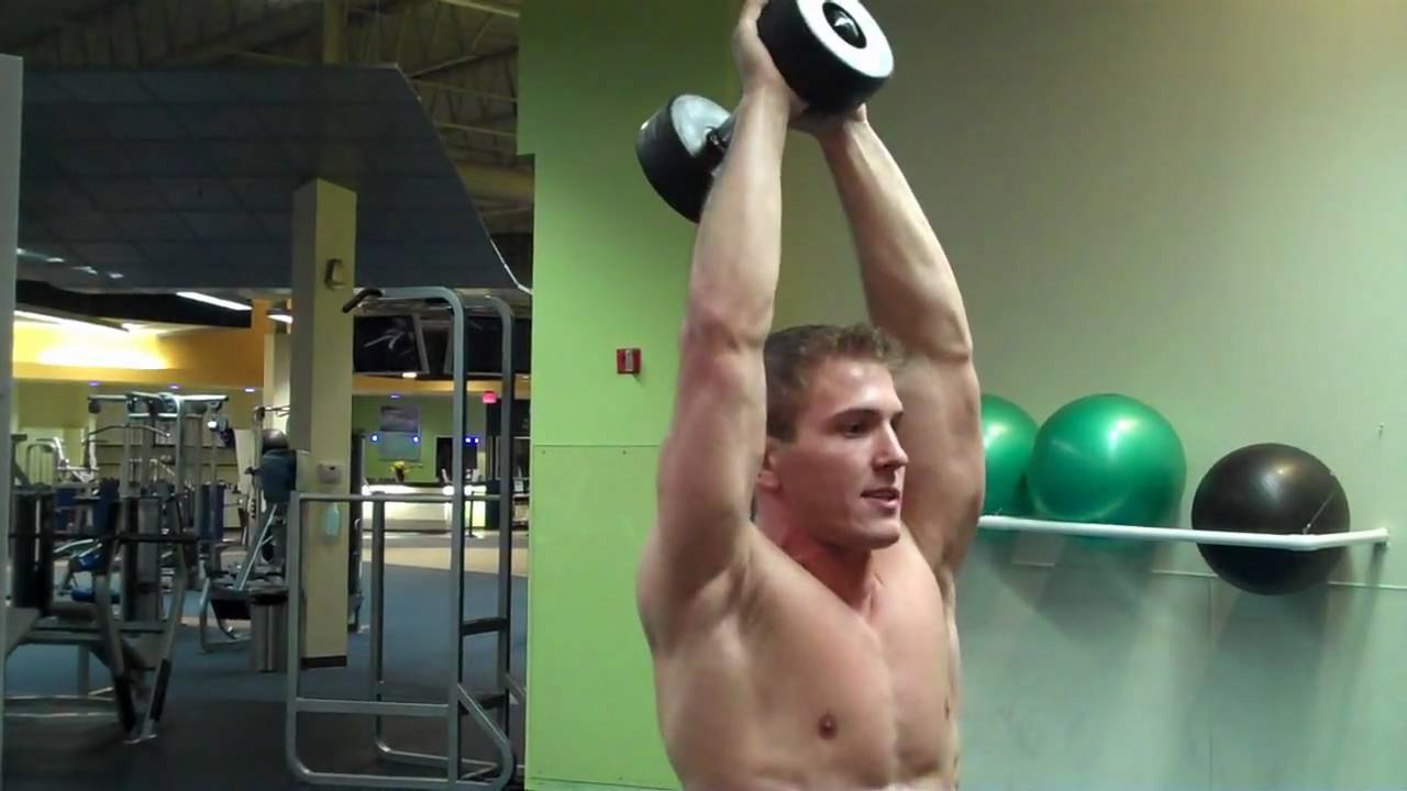 Tricep Extension Dumbbell Standing Dumbbell Tricep Extension