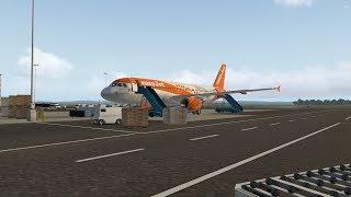 X-plane 11 | Sardinie ► Edinburgh | FlightFactor A320 |