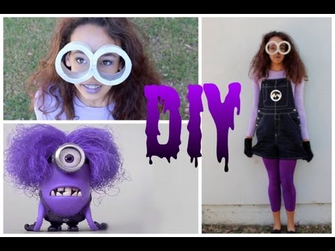 DIY Purple Minion Costume +Makeup & Hair!