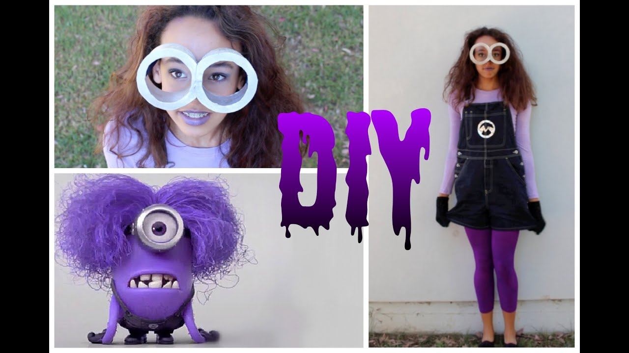 Purple Minion Halloween Costume For Kids Diy Purple Minion Costume